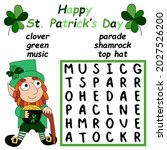 saint patrick day word search... | Shutterstock .eps vector #2027526200