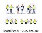 engineers team with equipment... | Shutterstock .eps vector #2027526800
