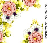 abstract flower background with ... | Shutterstock .eps vector #202752820