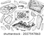 fish and chips sketch vector... | Shutterstock .eps vector #2027547863