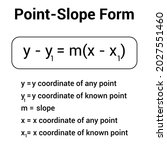 Point Slope Equation Of A Line. ...