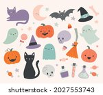 set of cute halloween... | Shutterstock .eps vector #2027553743