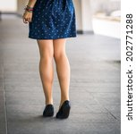 beautiful  women's legs in... | Shutterstock . vector #202771288