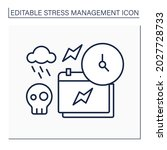 external stressors line icon....   Shutterstock .eps vector #2027728733