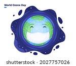 world ozone day illustration at ... | Shutterstock .eps vector #2027757026