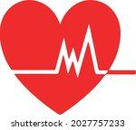 illustration of heartbeat ...   Shutterstock .eps vector #2027757233