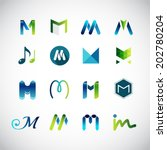 abstract icons based on the... | Shutterstock .eps vector #202780204
