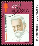 Small photo of POLAND- CIRCA 1982: A Stamp printed in the Poland shows Odo Bujvvid (1857 - 1942) - the polish bacteriologist, public figure, circa 1982
