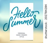 Hello Summer Hand Lettering...
