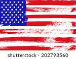 painted american flag | Shutterstock .eps vector #202793560