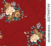 brown vector flowers with green ... | Shutterstock .eps vector #2027949749