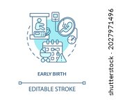early birth blue concept icon . ... | Shutterstock .eps vector #2027971496