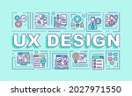 ux design word concepts banner. ... | Shutterstock .eps vector #2027971550