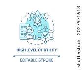 high utility level concept icon....