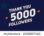 5000 followers thank you...   Shutterstock .eps vector #2028007160