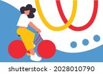 motorcycle riders. woman driver ... | Shutterstock .eps vector #2028010790