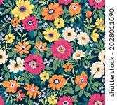 seamless vector floral pattern. ...   Shutterstock .eps vector #2028011090