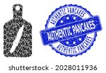 authentic pancakes rubber round ...   Shutterstock .eps vector #2028011936
