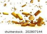 fortune in  golden bars  golden ...   Shutterstock . vector #202807144