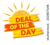 summer deal of the day banner   ... | Shutterstock . vector #202807648