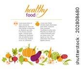 set of vegetables. healthy food ... | Shutterstock .eps vector #202808680
