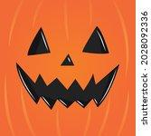 pumpkin face  halloween pumpkin ... | Shutterstock .eps vector #2028092336