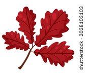oak leaf. autumn design element....   Shutterstock .eps vector #2028103103