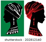 beautiful african woman head...   Shutterstock .eps vector #202812160