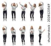 collage of women photographer... | Shutterstock . vector #2028123569
