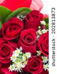 Stock photo red rose bouquet 202813873