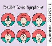 possible covid19 symptoms... | Shutterstock .eps vector #2028147146