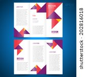 brochure design template trifold vector geometric abstract triangles