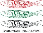 ilove portugal sardines on... | Shutterstock .eps vector #2028165926