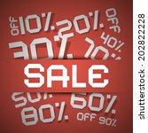 sale paper title   discount...   Shutterstock . vector #202822228