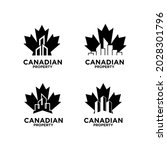 set collection canadian... | Shutterstock .eps vector #2028301796
