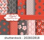 set of vector flower abstract... | Shutterstock .eps vector #202832818