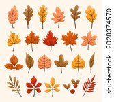 set of autumn colorful leaves....   Shutterstock .eps vector #2028374570
