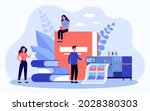 tiny people and giant photo... | Shutterstock .eps vector #2028380303