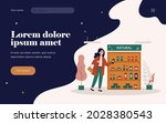 cosmetic buyer choosing... | Shutterstock .eps vector #2028380543