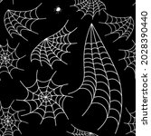halloween spider web seamless...   Shutterstock .eps vector #2028390440