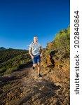 male fitness model running... | Shutterstock . vector #202840864