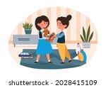 conflict between children...   Shutterstock .eps vector #2028415109