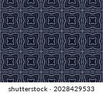 White Old Pattern. Navy Ink...