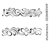 decorative oblong design with... | Shutterstock .eps vector #2028485549
