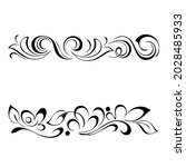 decorative oblong design with... | Shutterstock .eps vector #2028485933
