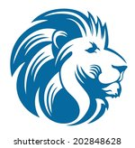 lion head  | Shutterstock .eps vector #202848628