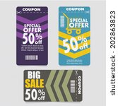 sale coupon  offers and... | Shutterstock .eps vector #202863823