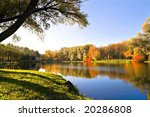 autumn landscape of lake and... | Shutterstock . vector #20286808
