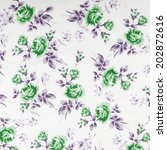 vintage floral fabric | Shutterstock . vector #202872616