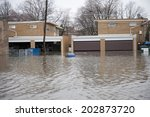 flooded homes in the chicago... | Shutterstock . vector #202873720